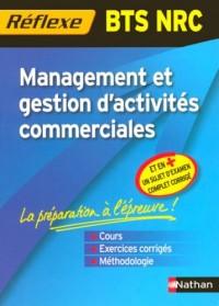 Management et gestion d'activités commerciales BTS NRC