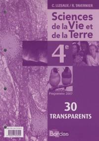 Transparents Science et Vie de la Terre Quatrième 2007