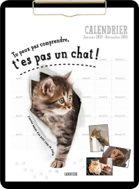 Tu peux pas comprendre, t'es pas un chat !: Calendrier Janvier 2019 - Décembre 2019 clip board