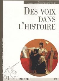 Voix dans l'histoire