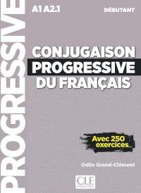 Conjugaison progressive du français - Niveau débutant - Livre + CD - 2ème édition Nouvelle couverture