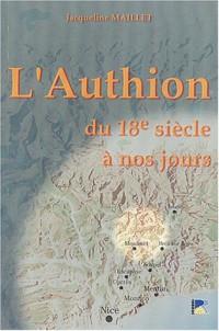 L'Authion du dix-huitième siècle à nos jours