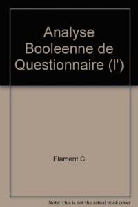 L'analyse booléenne de questionnaire. Méthodes de sociologie
