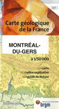 Carte géologique : Montréal-du-Gers
