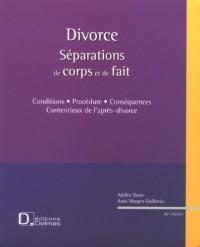 Divorce : Séparations de corps et de fait (1Cédérom)