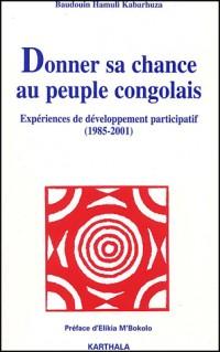 Donner sa chance au peuple congolais