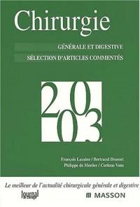 Chirurgie 2003. Générale et digestive, Sélection d'articles commentés