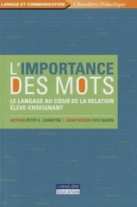 L'importance des mots : Le langage au coeur de la relation élève-enseignant