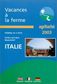 Vacances à la ferme en italie 2003