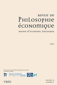 Revue de Philosophie Economique 16 (2015)/2 Varia
