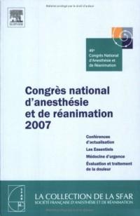 Congrès national d'anesthésie et de réanimation 2007