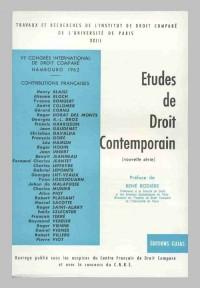 Actes du 6e Congrès international de droit comparé, Hambourg, 1962