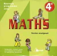 Maths 4e : CD-ROM version enseignant