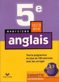 Chouette Entraînement : Anglais, de la 5e à la 4e - 12-13 ans (+ corrigés)