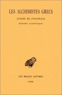 Zosime de Panopolis - Mémoires authentiques : tome IV-1
