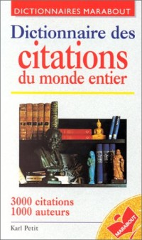 Dictionnaire des citations du monde entier