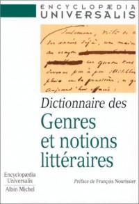 Dictionnaire des genres et notions litteraire