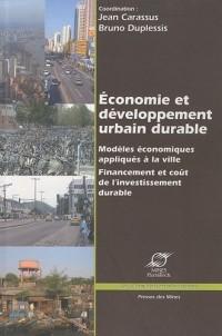 Economie et développement urbain durable