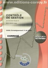Contrôle de gestion UE 11 du DCG : Corrigé