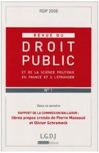 Revue de Droit Public Rdp N 1-2008