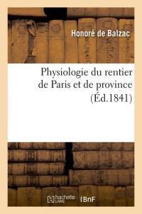 Physiologie du Rentier de Paris  ed 1841