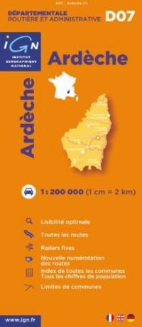 Ardèche : 1/200000