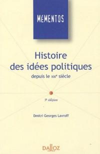 Histoire des idées politiques depuis le XIXe siècle