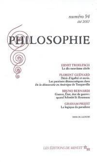 Philosophie 94 été 2007