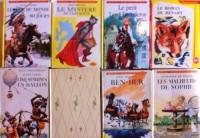 Sélection de 8 livres classiques de l'enfance: tour du monde en 80 jours, 5 semaines en ballon, capitaine fracasse, mystère du chat botté, Ben-hur, Malheurs de sophie, roman de renart, petit lord faun