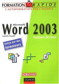 Word 2003 : Notions de base