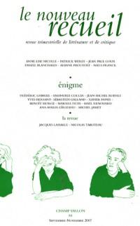 Le nouveau recueil, N° 84 : Enigmes ouvertes