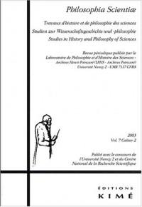 Philosophia Scientiae, Volume 7 cahier 2/20 :