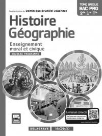 Histoire-géographie-enseignement moral et civique 2de 1ere Tle bac pro : Livre du professeur
