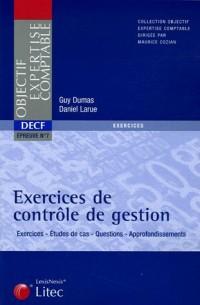 Exercices de contrôle de gestion : DECF Epreuve n° 7