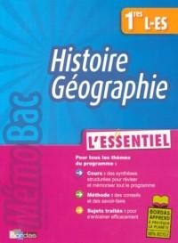 Histoire Géographie 1e L-ES : L'essentiel