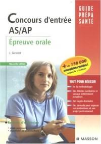 Concours d'entrée AS/AP : Epreuve orale