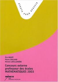 Concours externe professeur des écoles Mathématiques : Sujets de la session 2003