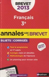 Annales Brevet 2013 Français Corriges N26