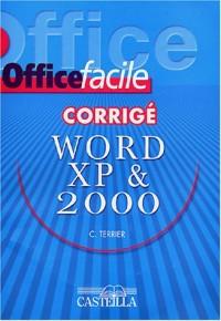 Word XP (2002) & 2000 : Corrigé
