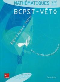 Mathématiques 2e année BCPST-VETO