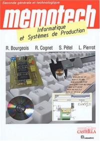 Informatique et systèmes de production 2e générale et technologique