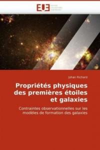 Propriétés Physiques Des Premières Etoiles Et Galaxies