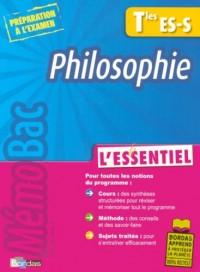 Philosophie Tles ES-S : L'essentiel