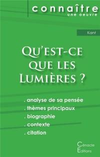 Fiche de lecture Qu'est-ce que les Lumières ? De Emmanuel Kant (Analyse philosophique de référence et résumé complet)