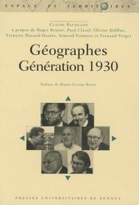 Géographes : Génération 1960