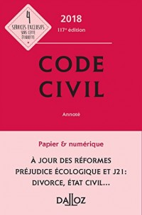 Code civil 2018, annoté - 117e éd.