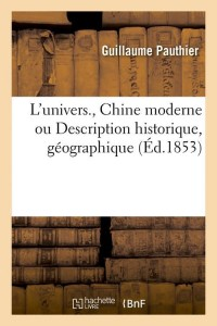 L Univers  Chine Moderne  ed 1853