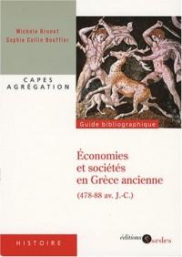 Economies et sociétés en Grèce ancienne (478-88 av J-C) : Grèce continentale, îles de la mer Egée, cités côtières d'Asie mineure