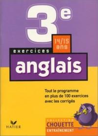 Chouette Entraînement : Anglais, de la 3e à la 2nde - 14-15 ans (+ corrigés)