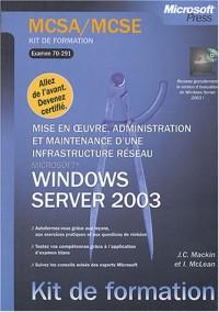 Mise en oeuvre, administration et maintenance d'une infrastructure réseau Windows Server 2003 : Examen MCSA/MCSE 70-291
